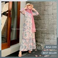 Gamis Dewasa Motif Bahan Katun Rayon Premium - Homey Dress Reina