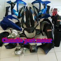 TERMURAH Full Body Bodi honda SUPRA x 125 warna biru komplit