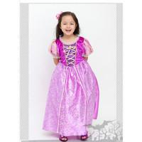 Baju Dress Kostum Anak Princess Rapunzel Kostum Ungu