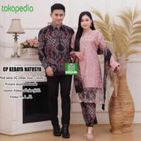 Batik Couple Kebaya Tunik Atasan Wanita Brukat Baju Lamaran Couple