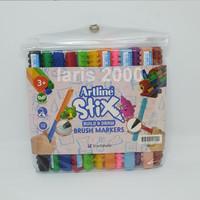Artline Stix Brush Pen Marker 12 Warna
