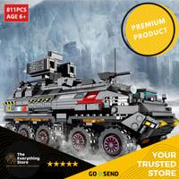 TheEverythingStore Mainan Anak Kreatif Merakit Mobil Tank Puzzle Brick