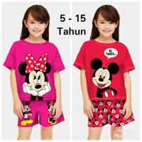 Baju Setelan Anak Perempuan kode 10 Umur 5 - 12 Tahun /Stelan Anak - Miki hi there, S