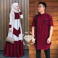 Couple Gamis Qurta Baju Pasangan Maxi Kurta Sarimbit Sepasang Muslim