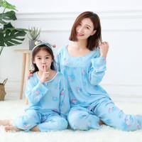 Piyama orangtua-anak / Setelan Baju Tidur Anak cewek dan ibu Import