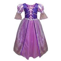 Baju Dress Princess Rapunzel Ungu Kostum Anak Rapunzel