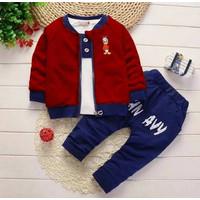 Baju Setelan Anak Laki Cowok Import Korea Set Dj NV Kid Usia 3 4 5 Th