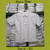 Seragam Sekolah Baju Polos Lengan Pendek Untuk Sd/Smp/Sma