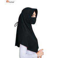 Nisrina Fashion Muslim Bergo Instan Masker Tali Jilbab Kanaya