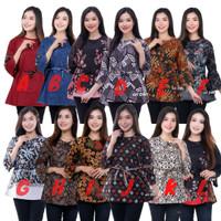 Baju Batik Wanita Atasan Blouse - Fashion Batik Wanita Modern M L XL