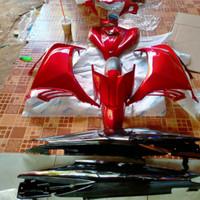 cover body full halus jupiter mx 135 new merah + striping