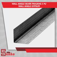wall angle silver panjang 3 m/ wall angle gypsum