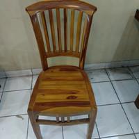 kursi makan betawi polos, kayu jati