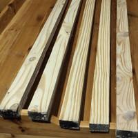 Balok bahan kayu jati belanda uk 5cm x 3cm x 110cm serut halus 4 sisi