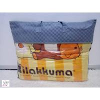 SELIMUT SINGLE IMPORT MOTIF RILAKKUMA UKURAN 150X200 CM
