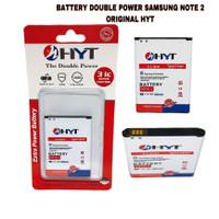 BATTERY BATERAI DOUBLE POWER SAMSUNG NOTE 2 ORIGINAL HYT