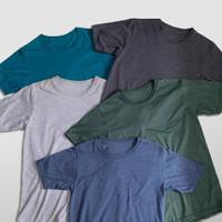 Kaos Polos Misty Two Tone Kaos Lengan Pendek Cotton Combad 30S PREMIUM