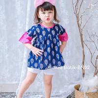 Atasan Batik Anak Perempuan Blouse Anak Cewek Baju Blus Usia 1-9 tahun