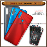 BackDoor Tutup Casing Belakang HP Realme C3 Cover - Grey