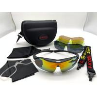 Kacamata sepeda vkool sport Full set 6 lensa