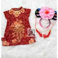 Dress Terusan Anak Perempuan CHEONGSAM IMLEK T 133 Usia Bayi - 7 tahun