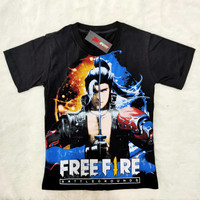 Kaos Free Fire Hayato Awakening / Kaos Oblong Anak Gamers
