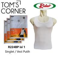 Singlet pria Rider 224  Vest     Kaos dalam pria branded   Putih