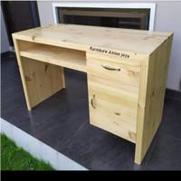 meja kerja/belajar meja kantor kayu jati Belanda.