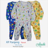 baju tidur setelan piyama panjang kancing pundak Aruchi S M L bayi