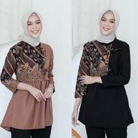 Baju Blouse Kantor Batik Atasan Wanita Baju blus batik wanita terlaris