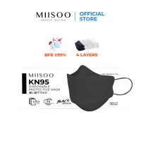 MIISOO N95 KN95 Hitam Korea KF94 Masker Kesehatan masker evo 4ply