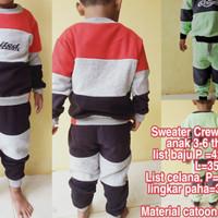 Stelan suiter anak 3-6 thn Baju hangat murah baju musim dingin