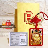 Jimat Kucing Hoki Maneki Neko Gantungan Emas 24k Kado Angpao Premium