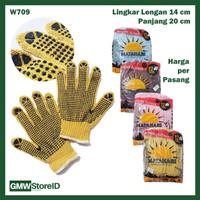 GROSIR Sarung Tangan Kerja Antislip Proyek Gloves Safety Murah - W709