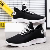 PHM Shoes Sepatu Pria Sneakers Import Sepatu Olahraga Kasual PHM103 - Hitam Putih, 39