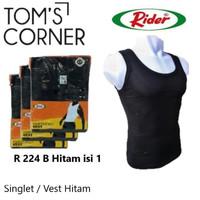 Singlet pria Rider 224   Vest     Kaos dalam pria branded   HItam