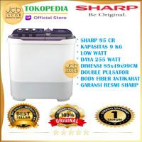 Mesin Cuci Sharp 2 Tabung 9 kg ES-T95CR