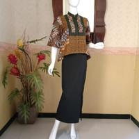 Atasan (blouse)batik cap sogan premium