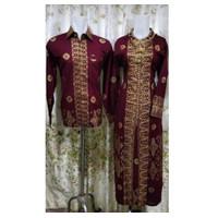 Batik Motif Songket Palembang, Merah, Bahan Kain Prada