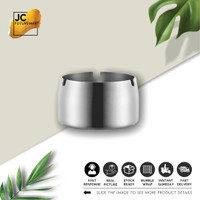 ASBAK STAINLESS STEEL   ASH TRAY STAINLESS STEEL   JINSEI - SILVER