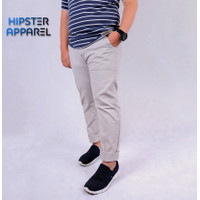 HIPSTER Celana Chino Panjang Pria Size Besar / Big Warna Light Khaki