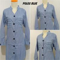 Tunik Wanita Katun Lady Oxford - Polos Blue