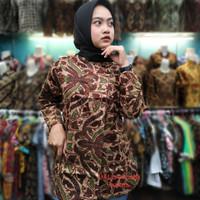 baju batik wanita, atasan batik wanita modern,blouse batik termurah - M