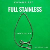 Rantai stainless untuk afrey-amazon-gala-kakaktua-govin-bayan-3mmx40cm