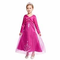 Baju Pink Elsa Frozen 2 Princess CG68