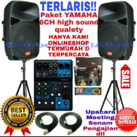 TERMURAH Paket YAMAHA 6 CH. isi lengkap sound audio system
