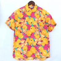 kemeja vintage motif buah pisang anggur apel baju pria