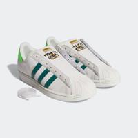 Adidas Men Superstar Laceless Shoes White Red Originals - Hijau
