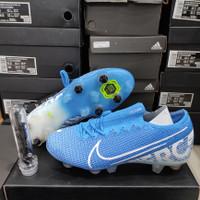 Sepatu Bola Nike Mercurial Vapor13 Elite Blue Hero FG Anti clog soccer