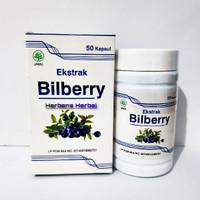 Extrak bilberry 50 kapsul obat rabun mata kolesterol Alzheimer